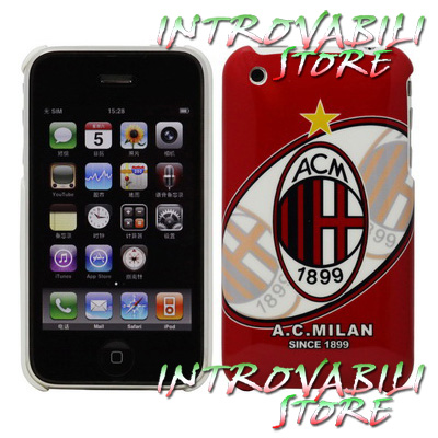 COVER GUSCIO DECORATO A.C. MILAN 1899 PER APPLE IPHONE 3G / 3Gs