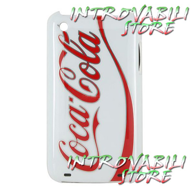 COVER GUSCIO DECORATA COCA COLA APPLE IPHONE 3G/3Gs