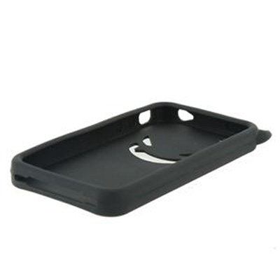 CUSTODIA GUSCIO IN SILICONE MORBIDO ANTI URTO DEVIL NERO PER APPLE IPHONE 4 - 4s